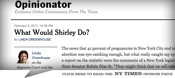NY Times Celebrates Abortion Epidemic