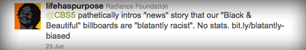 The Radiance Foundation calls out CBS5's blatant bias