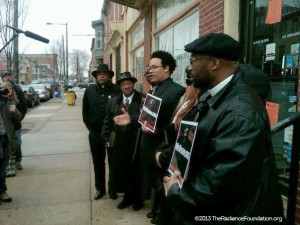 Ryan Bomberger w/ Nat'l Black Prolife Coalition outside Gosnell Clinic