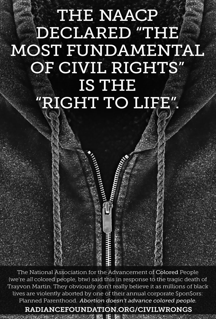 """NAACP makes false claim that it believe most fundamental right is the """"right to life""""."""